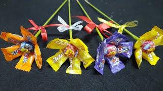 Diy ของขวัญวันปัจฉิม วันรับปริญญา วันวาเลนไทน์ ช่อดอกไม้ ลูกอม สำหรับเพื่อนๆ ep.6