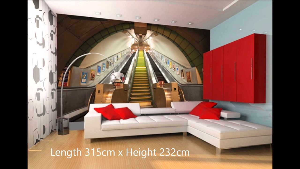 London underground wall mural video youtube amipublicfo Choice Image