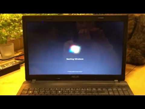 Как скинуть ноутбук до заводских настроек asus windows 7