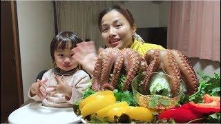 🇯🇵Thử Thách Ăn Hết 2 Con Bạch Tuộc Khổng Lồ - Cuộc sống ở Nhật #105