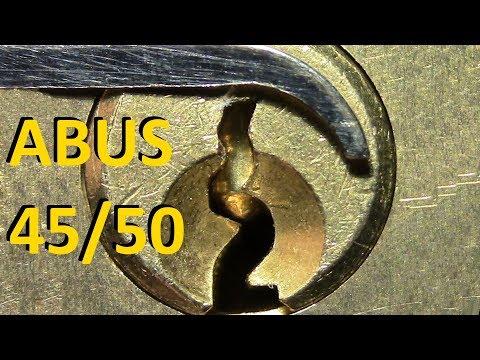 Взлом отмычками ABUS 45/50  (picking 395) ABUS 45/50 padlock picked -