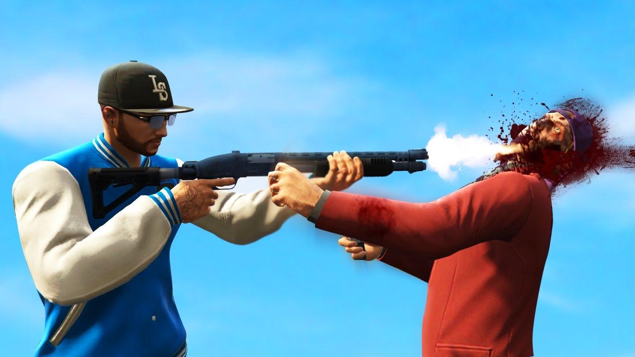BRUTAL HEAD SHOT IN GTA 5! (GTA Online Multiplayer Funny Moments ...