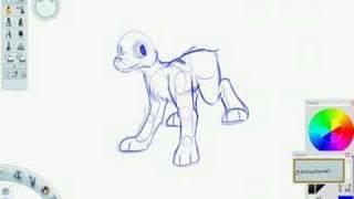 Slopdog Art - Draw a Neopets Gelert