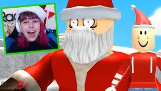 Roblox Escape Santa's Workshop Obby! Lava in the North Pole?