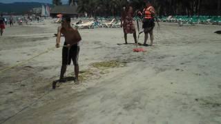 Colleen Parasailing in Puerto Vallarta