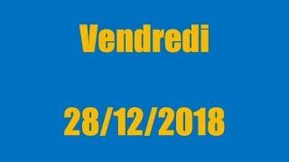 TIRAGE EURO MILLIONS DU VENDREDI 28 DÉCEMBRE 2018 !