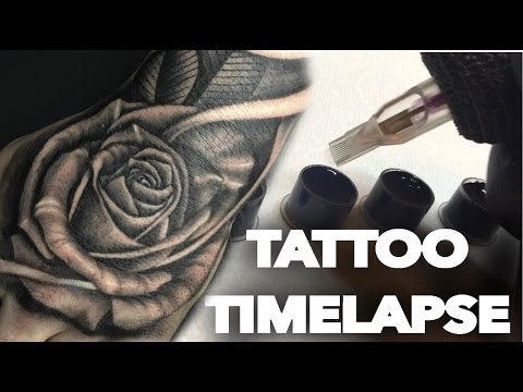 TATTOO TIME LAPSE | REALISTIC ROSE ON HAND AND SKULL ON FOREARM | CHRISSY LEE