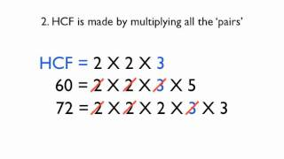 Highest Common Factor and Lowest Common Multiple Part 2 (Using Prime Factorisation)