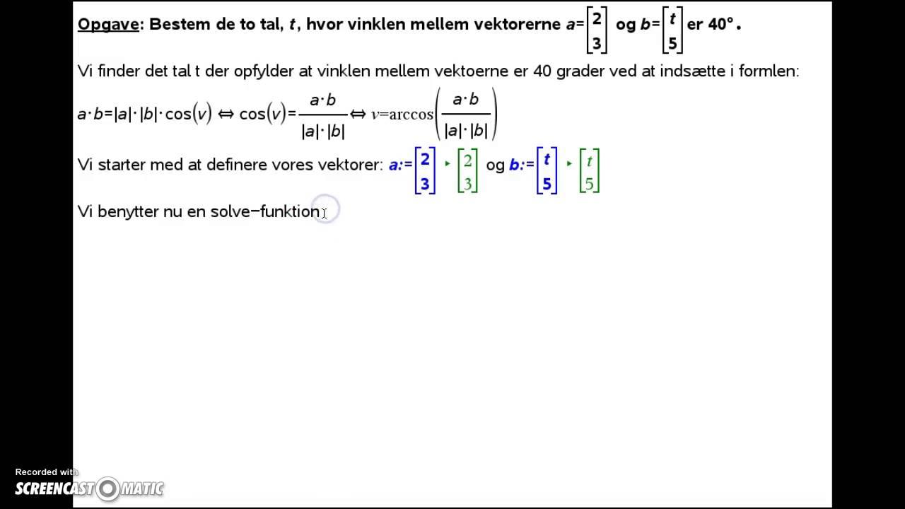Vektorer i 2D Eksempelbesvarelse