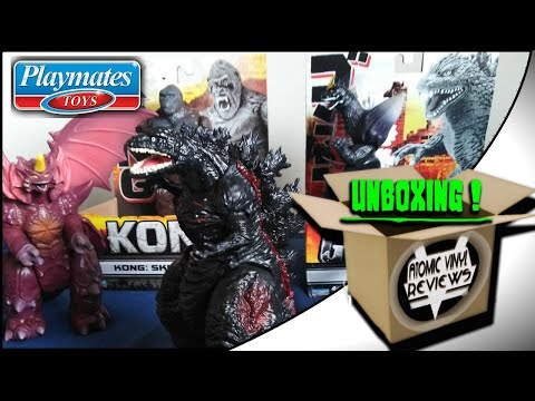 Playmates Godzilla and Kong 6.5 inch figures UNBOXING !