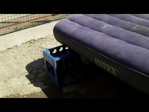 Как ремонтировать надувной матрас видео