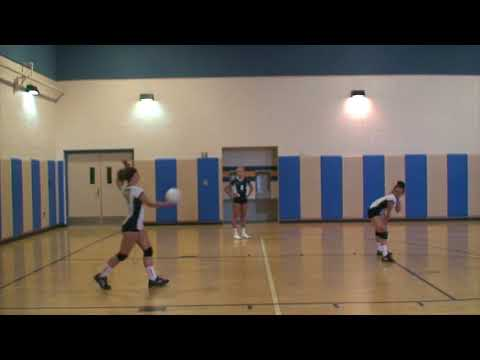 Vista Murrieta High School Freshman Girls Volleyball vs Santiago High School Match 3