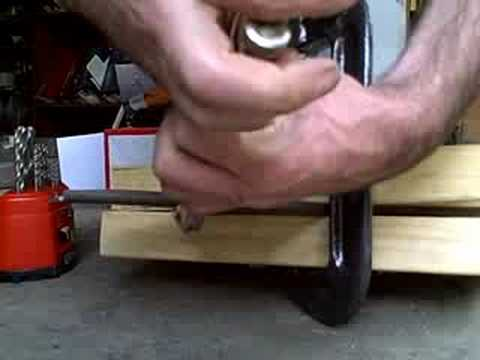 Sheet Metal Brake Made From Wood And Clamps