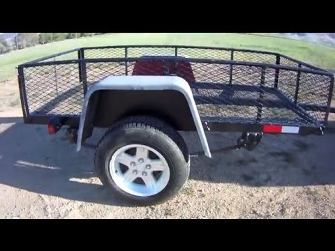 Build a DIY Utility Trailer for $300 - Part 1 - YouTube