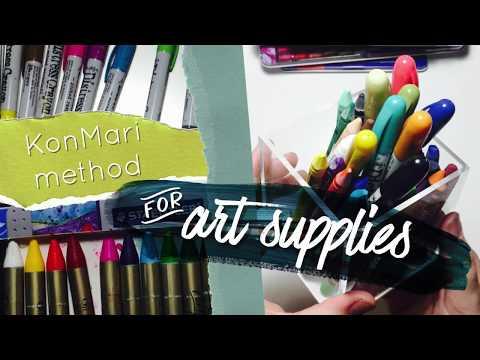KonMari Method for Art Supplies