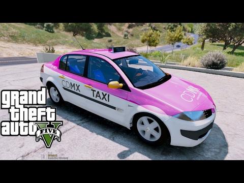 GTA 5 MODS|TAXI CDMX VS UBER EN GTA V MÉXICO|EdgarFtw