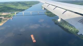 Посадка в Стригино, аэропорт Нижний Новгород. Сухой Суперджет 100