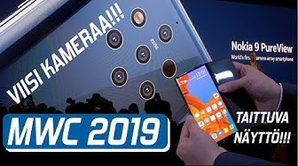 "MWC 2019 - Huawei Mate X ""hands-on"" ja Nokia 9 Pureview ensitunnelmat!"