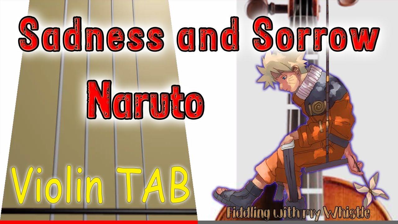 Sadness and Sorrow - Naruto OST - Violin - Play Along Tab Tutorial