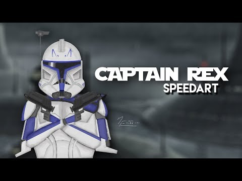 "Star Wars ""Captain Rex""   (SPEEDART) | Adobe Photoshop CC Time lapse"