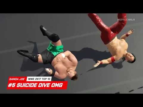WWE 2K17 Samoa Joe Top 10 Moves!