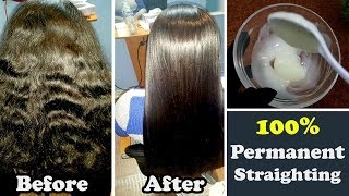 How to Straighten your Hair Permanently at Home Naturally Urdu Hindi