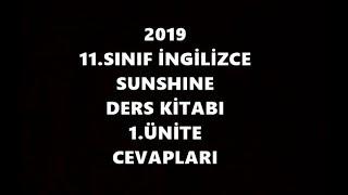 11.Sınıf İngilizce Sunshine Ders Kitabı 1.Ünite Cevapları 2019