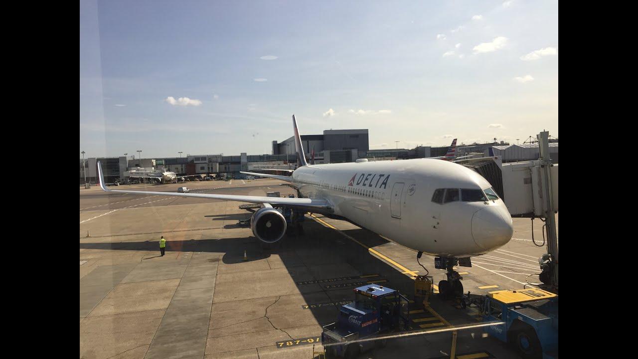 Delta 767 300er flight experience dl1 london heathrow to new york delta 767 300er flight experience dl1 london heathrow to new york jfk youtube publicscrutiny Gallery