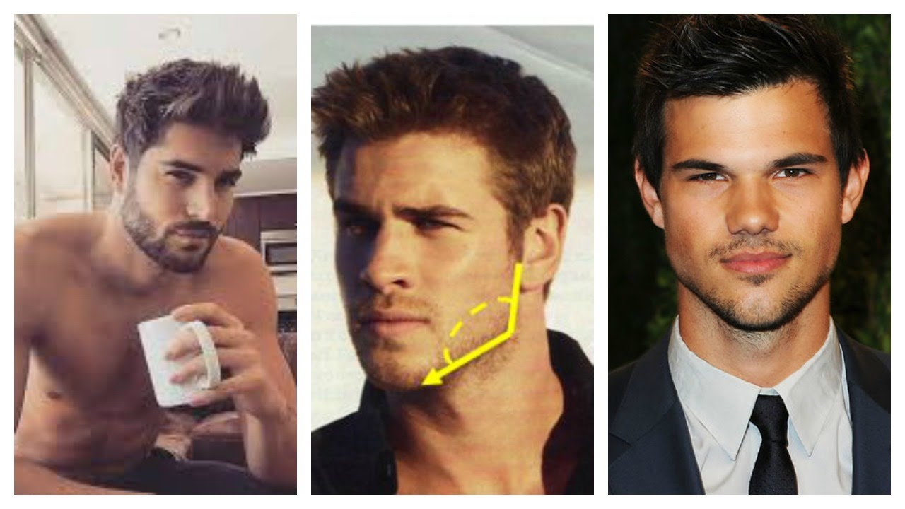 how to get a chiseled jawline for men youtube