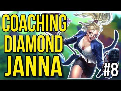 Coaching a Diamond Janna | Coaching Lesson #8 - League of Legends