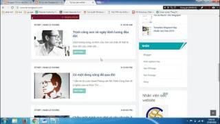 [Tối ưu seo cho Blogspot - 04] Chỉnh sửa menu và tạo nhãn cho Blogspot