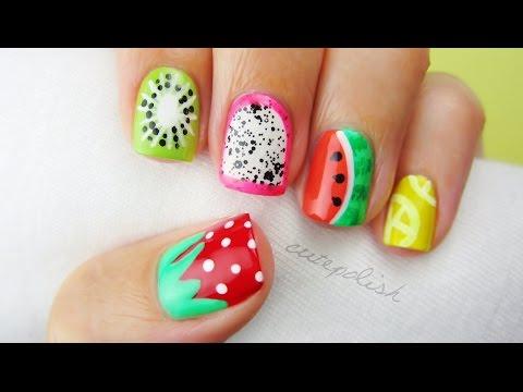 5 Summer Fruit Nail Art Designs