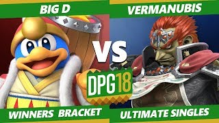 Smash Ultimate Tournament - Vermanubis (Ganondorf) Vs. CACAW! | Big D (Dedede) DPOTG18 SSBU WR1