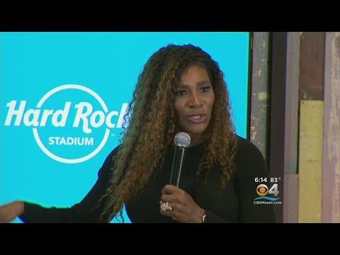 Serena Williams Helps Break Ground For New Miami Open