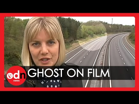 'Ghostly shadow' filmed on live TV