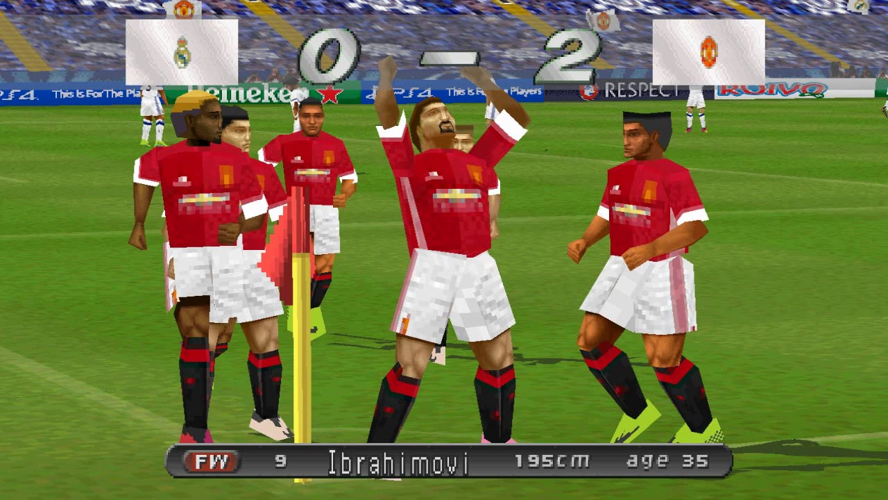 WINNING ELEVEN 2017 PS1 Real Madrid Vs Manchester United Atualizado HD