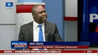 Kriz David Speaks On Plan And Programs |Politics Today|