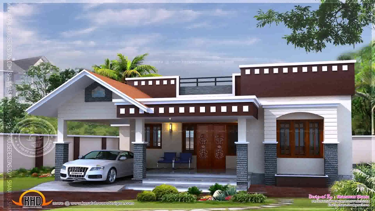 Small House Elevation Kerala Style : Kerala style single floor house plans and elevations youtube