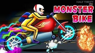 Scary Monster Bike | Scary Monster Truck | Bike Videos for kids | Scary Kids Videos