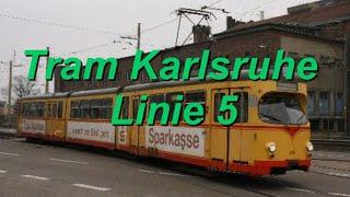 [Video] Straßenbahnlinie 5 der Verkehrsbetriebe Karlsruhe GmbH im Jahr 2013