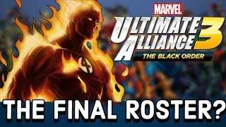 Marvel Ultimate Alliance 3: The Final Roster (Before DLC)