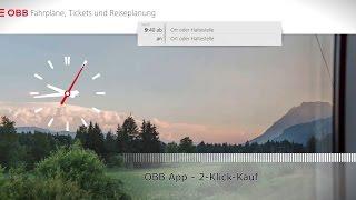 ÖBB App - 2-Klick-Kauf