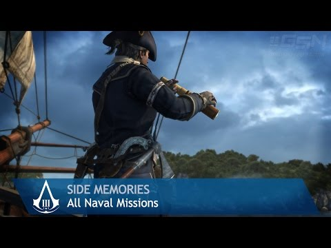 Assassin's Creed 3 - Side Memories - All Naval Missions