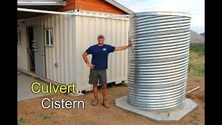 Culvert Cistern Install - catching rain off the Shop! Video