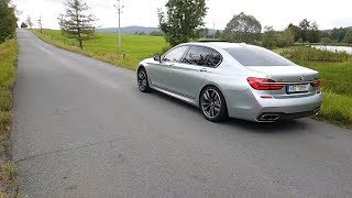 BMW M760Li xDrive - exhaust sound & acceleration (+ slow motion)