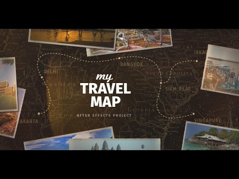 My Travel Map | After Effects template