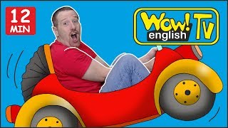 Toy Car Stories from Steve and Maggie + Learn MORE Words   Free Speaking Wow English TV