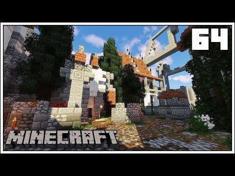 THE CASTLE COURTYARD STATUE!!! ► Episode 64 ►  Minecraft 1.13.2 Survival Let's Play