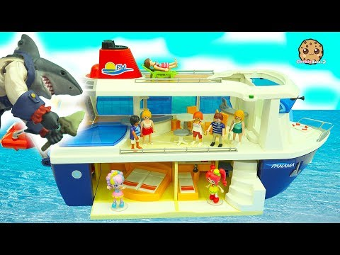 Thumbnail: Shark Attack On Strange Cruise Ship Trip - Shopkins Happy Places Shoppies Rainbow Kate Vacation
