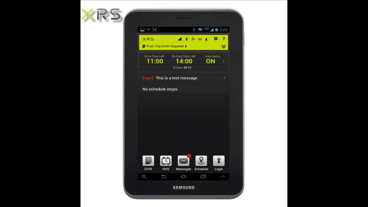 XRS Driver Receive Send Messages
